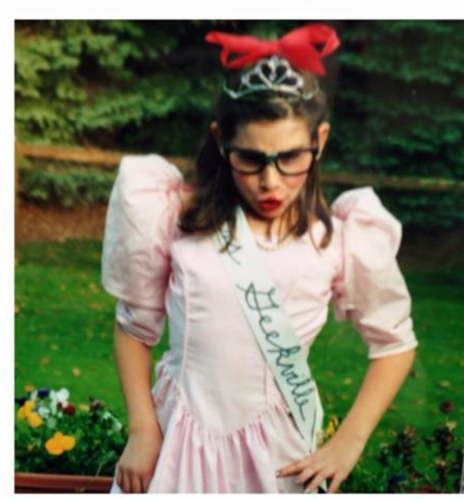 """Me as """"Mrs Geekville"""" the beauty pageant contestant from Geekville"""