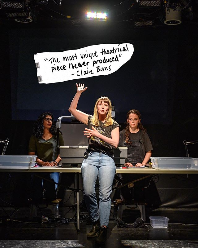 See you tonight at 7pm!  Thanks to @dahliakatz for the amazing photos  WHAT:  1991 WHEN:  MAY 22- JUNE 9 WHERE:  @thetheatrecentre  Written and Directed by @coleilewis Presented by @whynottheatre As part of The Riser Project