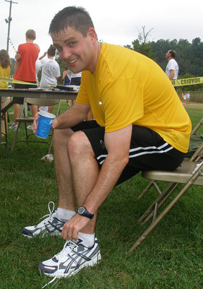 My first half marathon in summer 2006 in Lynchburg, Virginia. This was actually meant to be an easy training run for the Virginia Ten Miler, which is below.