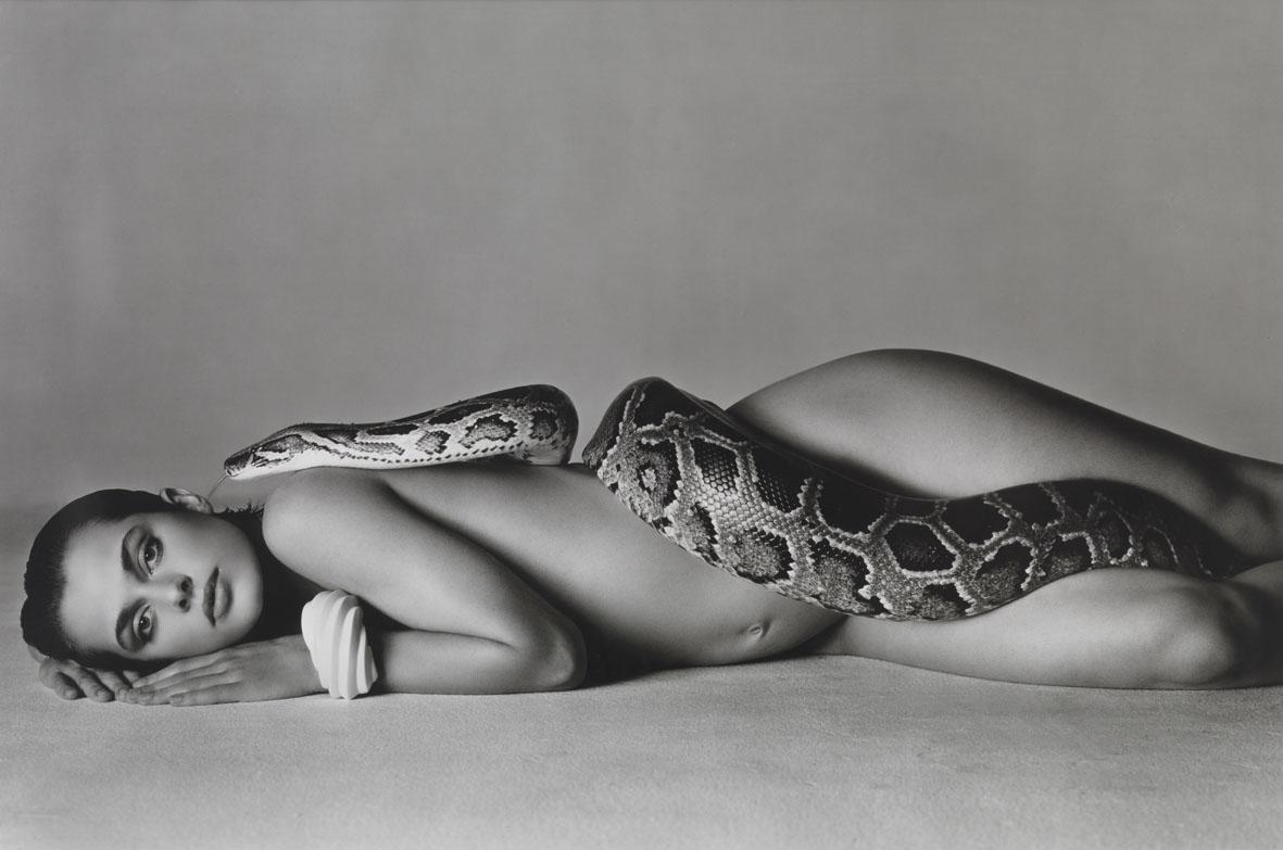 Nastassja Kinski photographed with a snake by Richard Avedon.