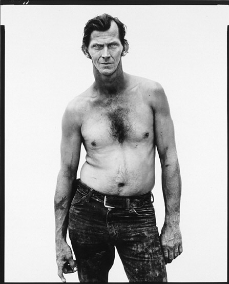 Billy Mudd, a trucker photographed by Richard Avedon, American West Series, 1981.