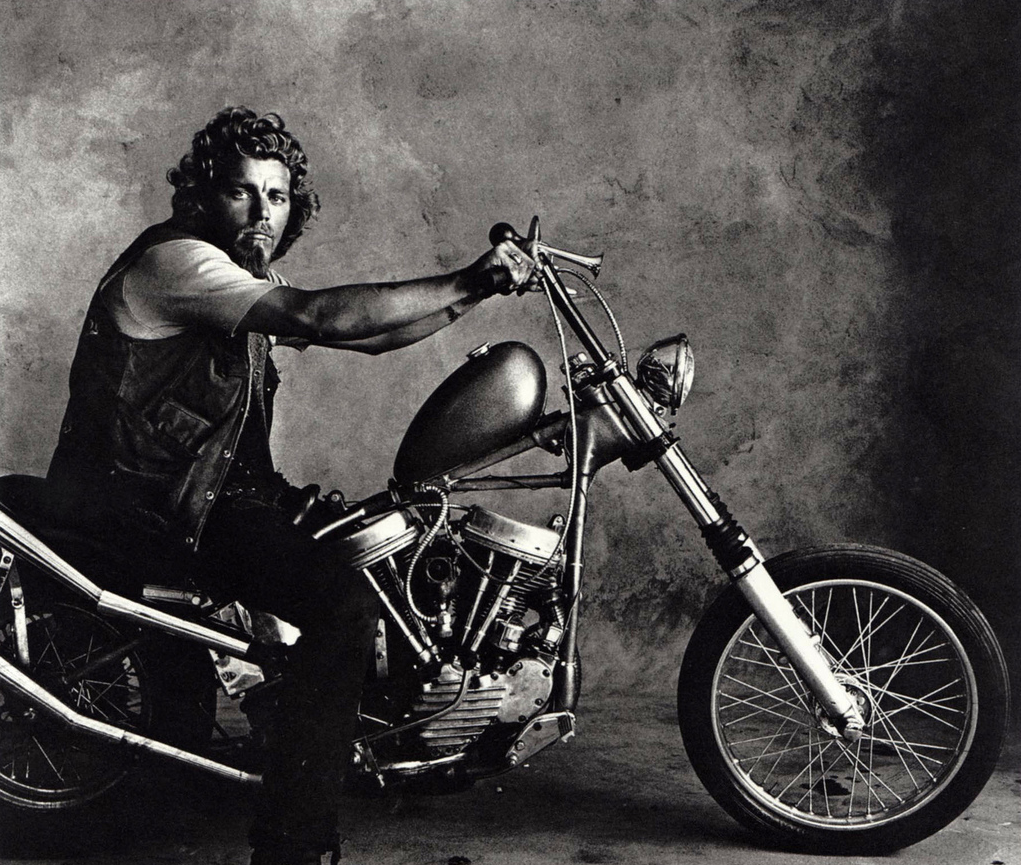 Irving Penn photograph from his Hell's Angels portrait series, Look Magazine 1968.