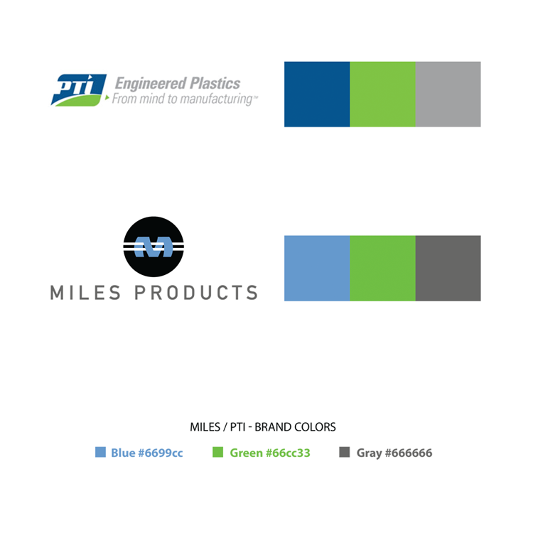 Miles Products Brand Partner Colors