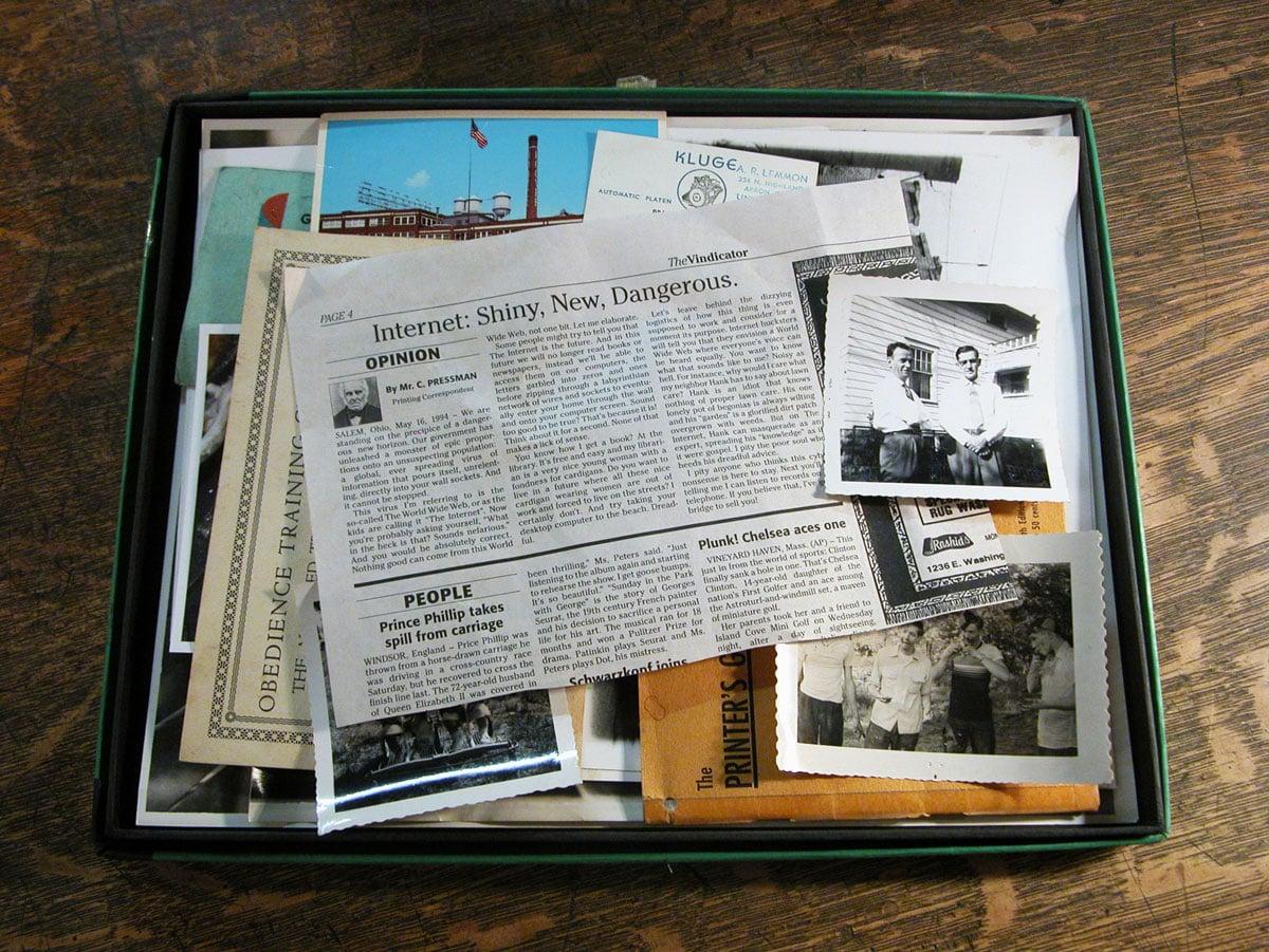 Parody Vintage Newspaper Article