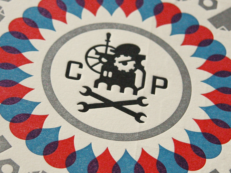 Cranky Pressman Postcard Closeup