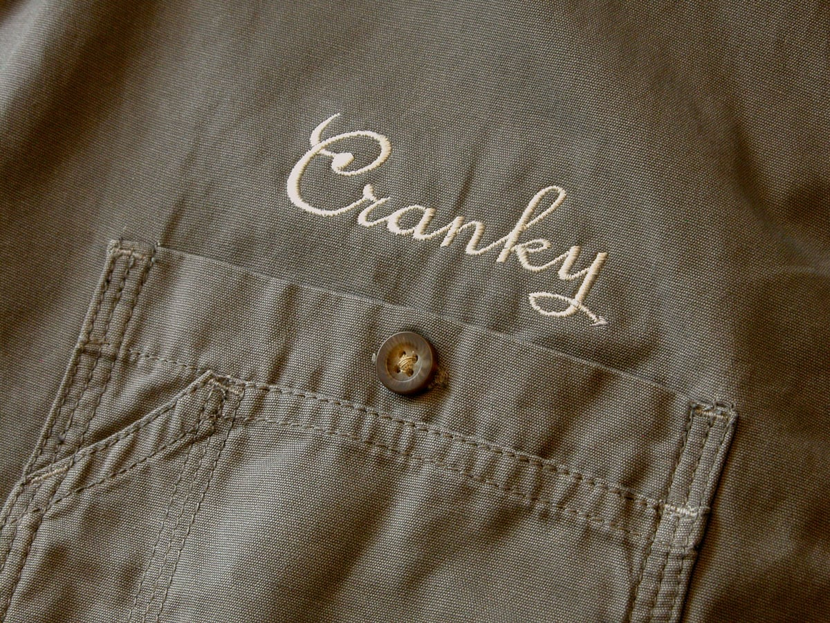 Cranky Script Embroidered Lettering