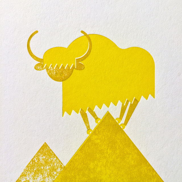 Y is for yellow yak.