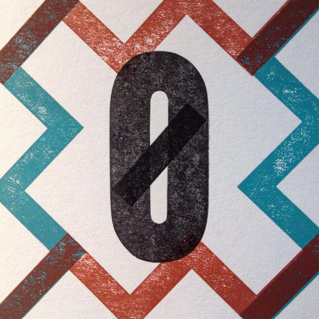 Z is for zero in a zig-zag border.