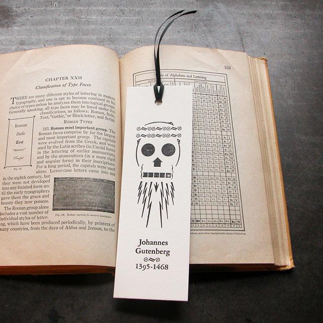 Gutenberg Letterpress Bookmark