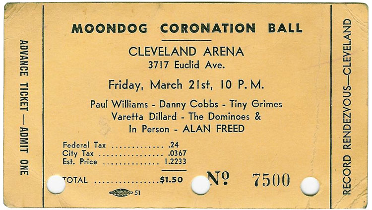 Moondog Coronation Ball Ticket
