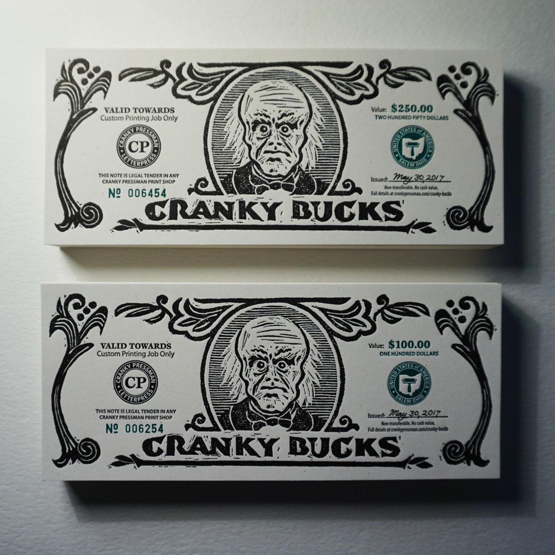 Finished Cranky Bucks Notes