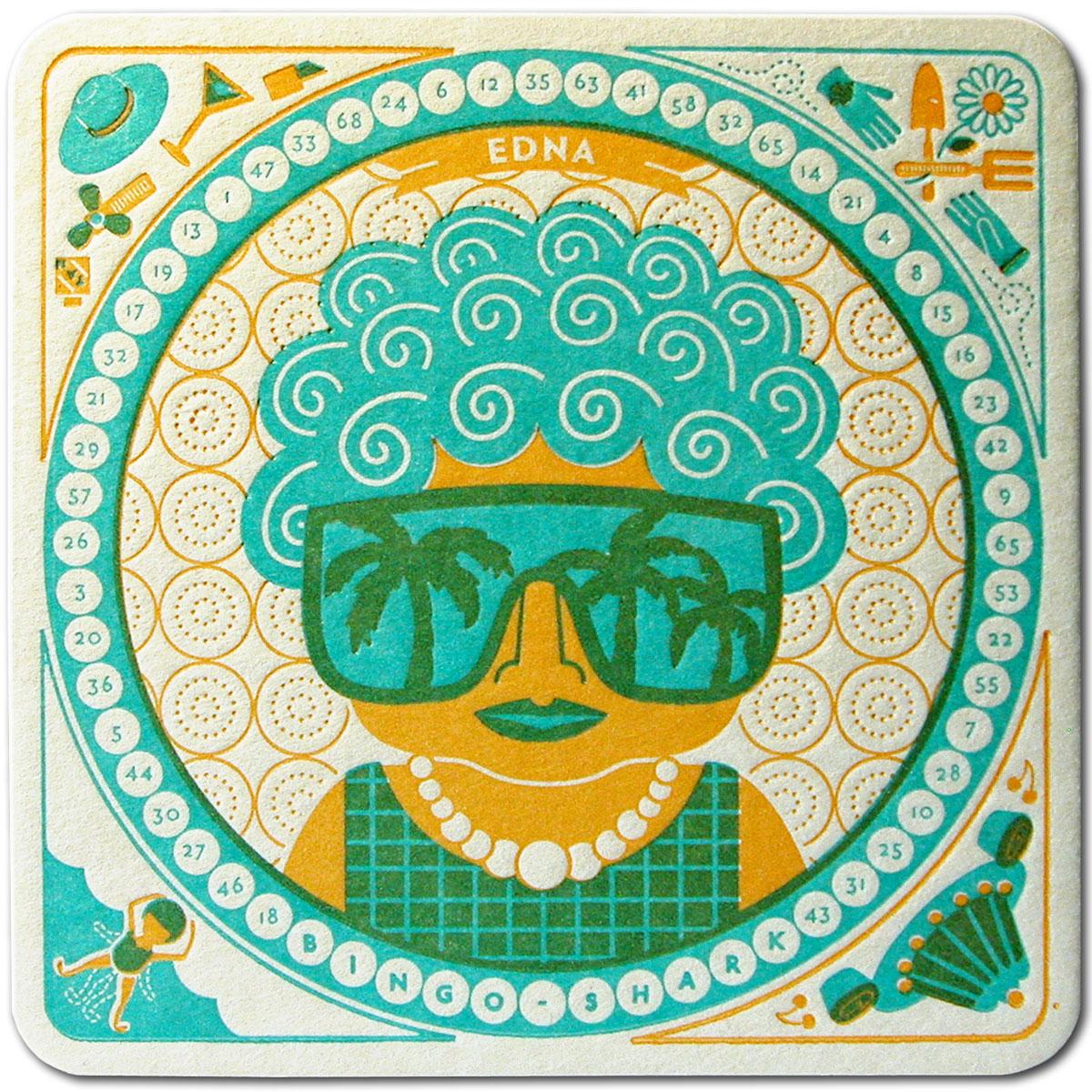 Edna - Coaster Front