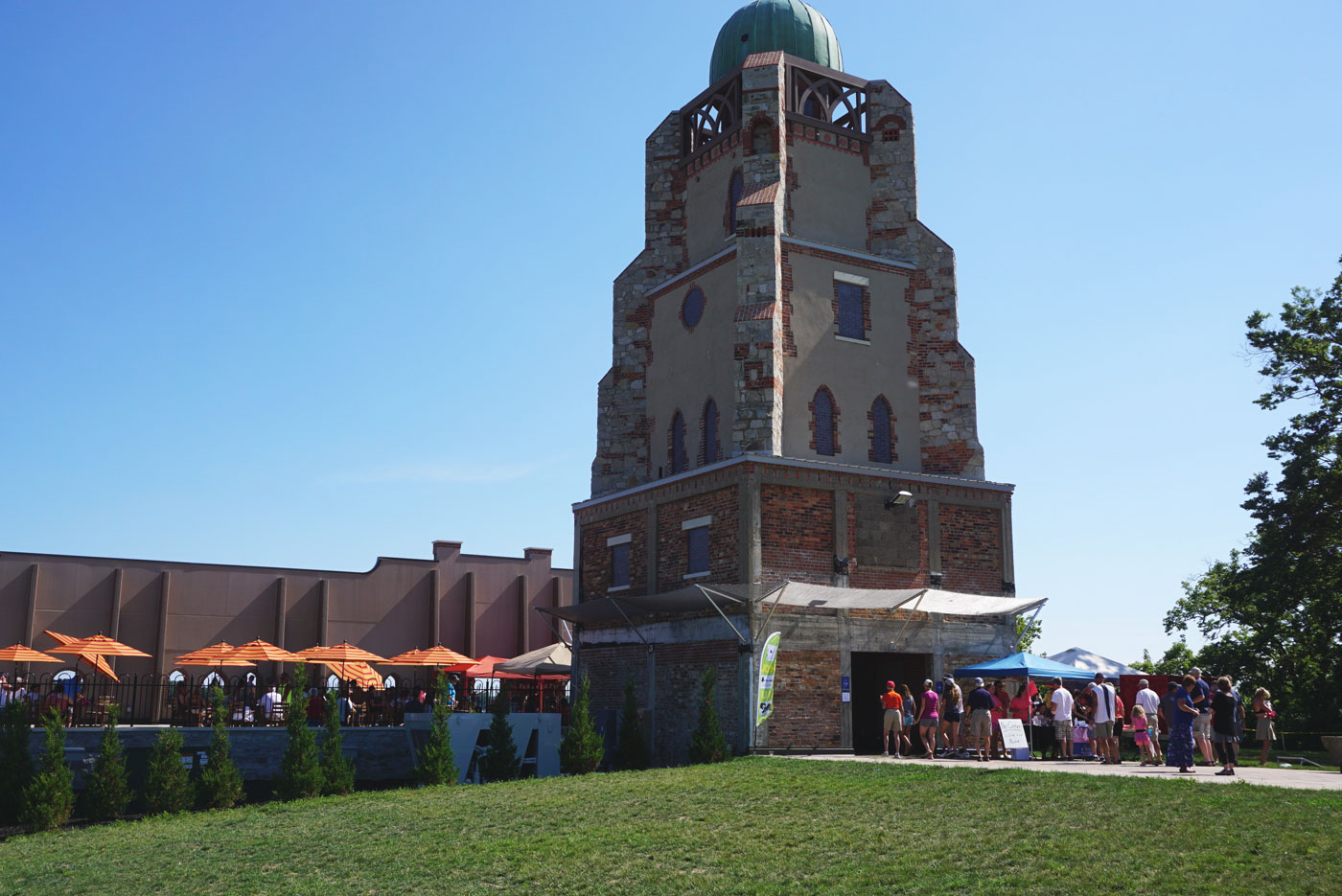 The Lonz Winery tower at Middle Bass State Park.