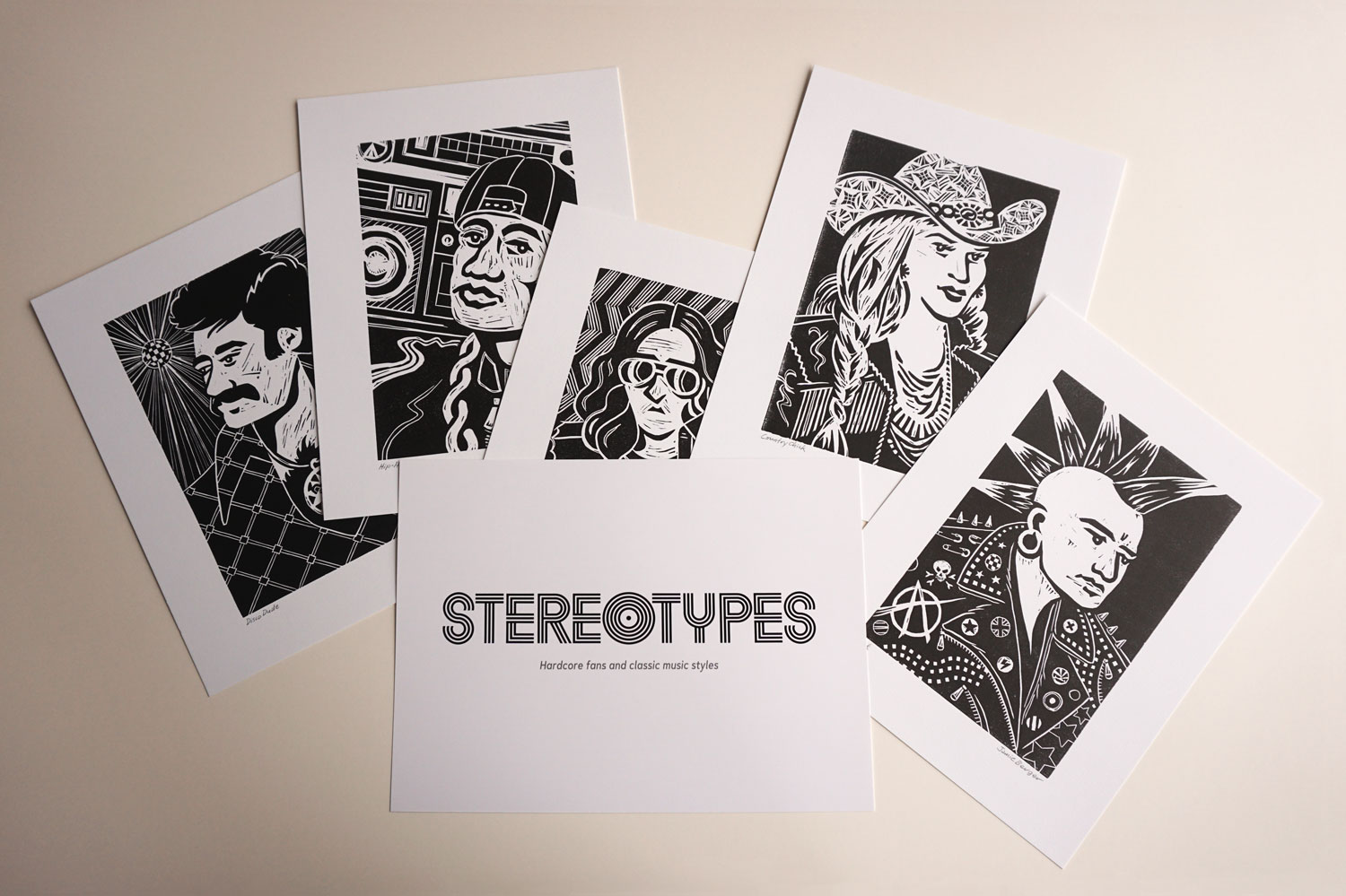 Stereotypes print series and cover sheet