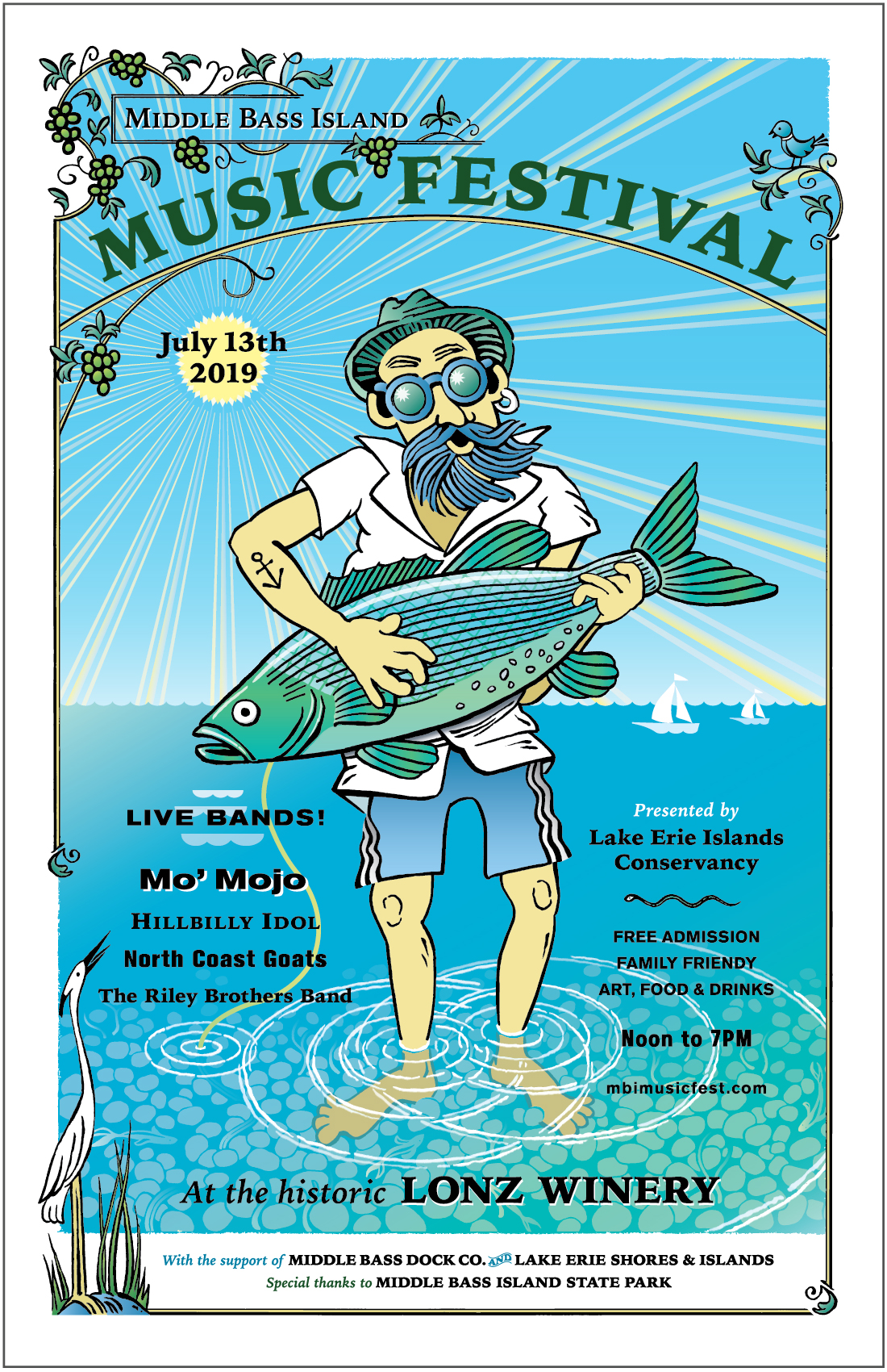 2019 Middle Bass Island Music Festival Poster