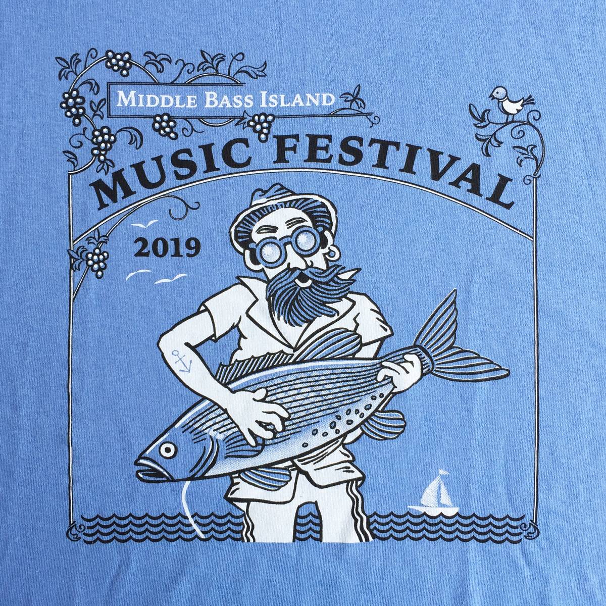 Printed sample of the 2-color t-shirt design