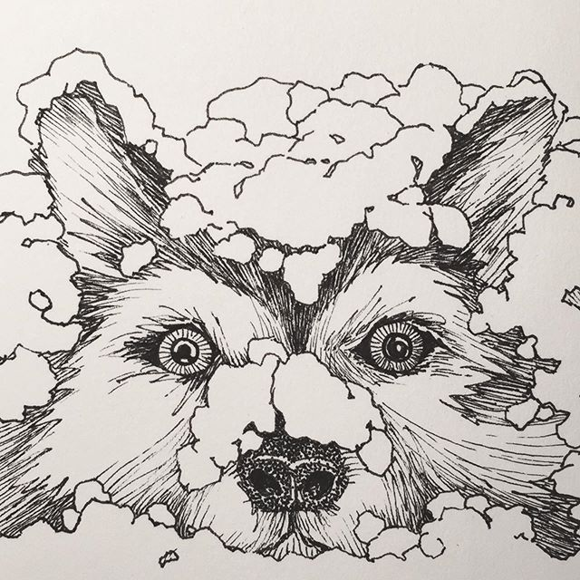 I went with the prompt word again today. The word is husky. This pooch is just waking up for a morning run or maybe breakfast and then a run! #inktober #inktober2019 #husky #dog #drawing #art