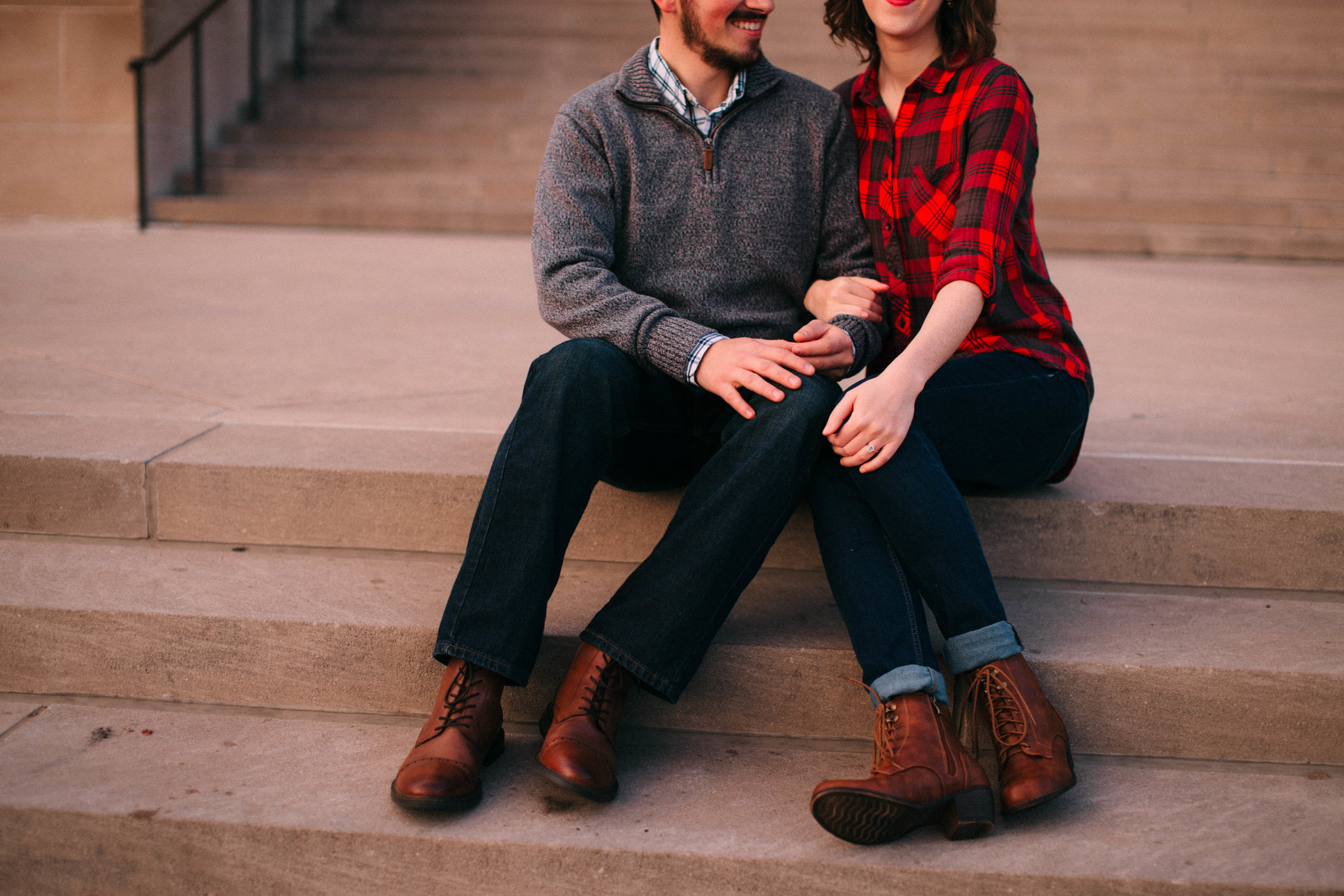 Shelbie & Joseph | Kansas City. MO Engagement | Sunset at Nelson Atkins Museum