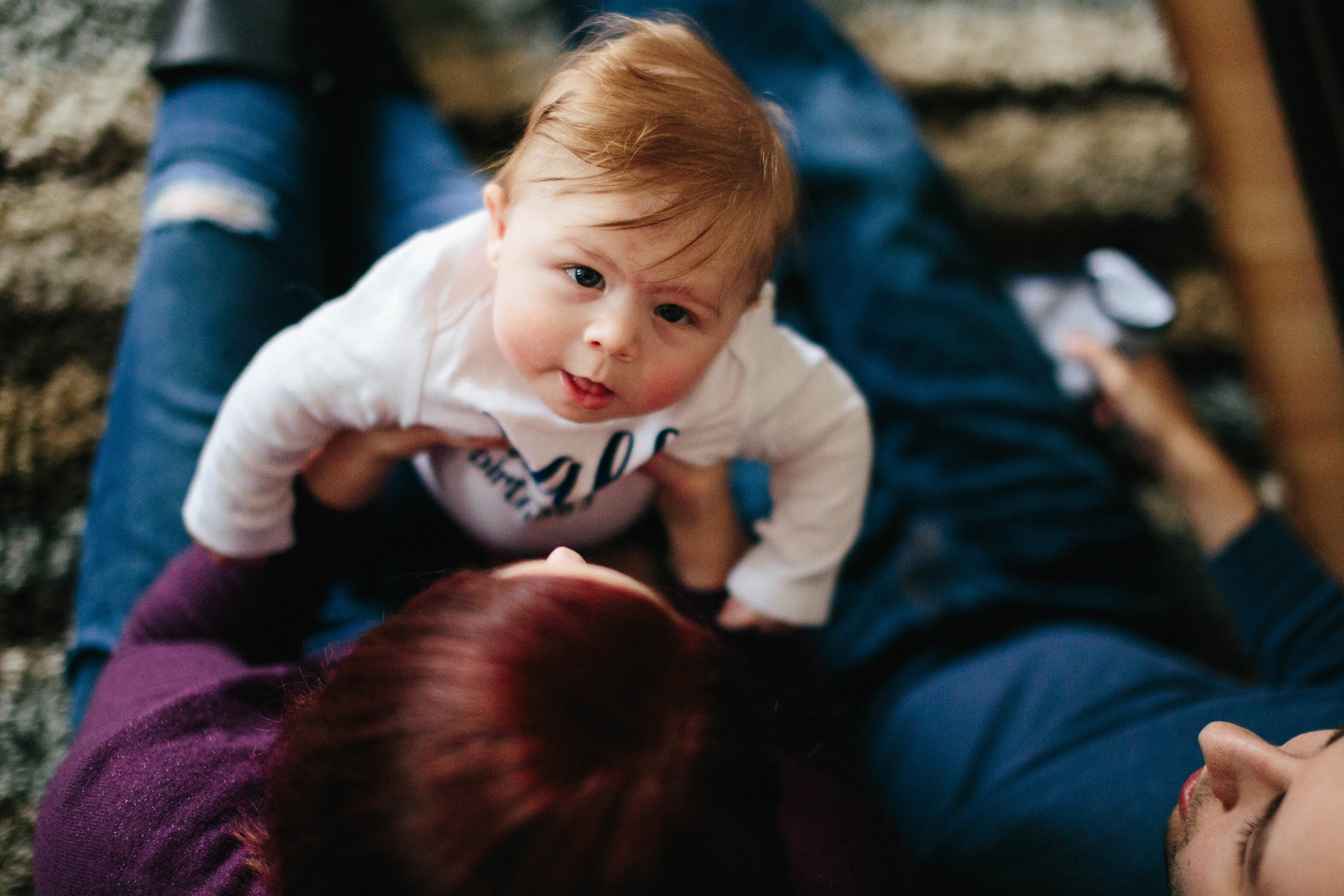 The Cunigan Family   Kansas City, MO   In home Lifestyle Session   Documentary Photography   6 month session