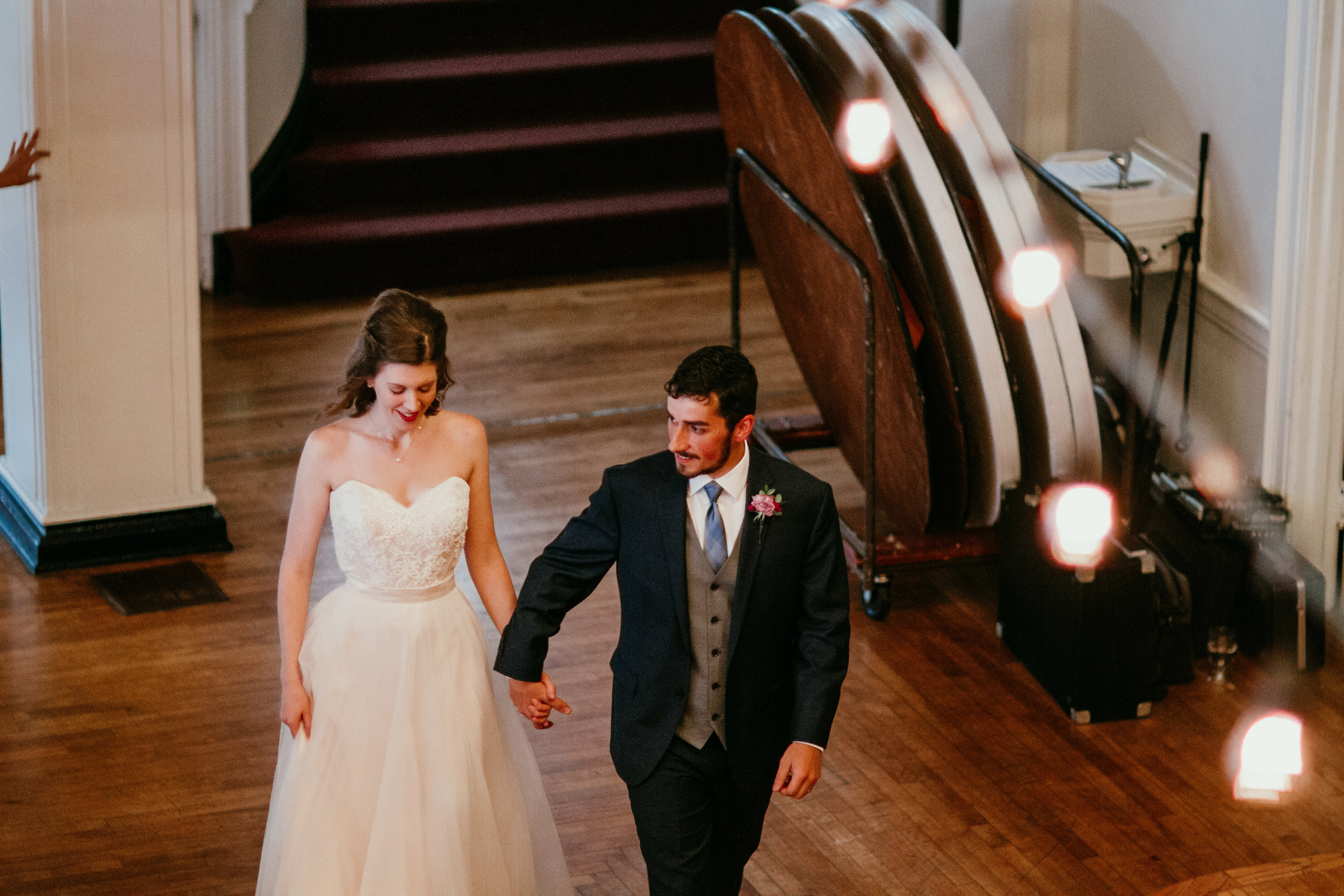 Introducing Husband and wife into the reception   Shelbie & Jospeh's Summer Love Story : Kansas City Wedding   Hanna Hill Photography