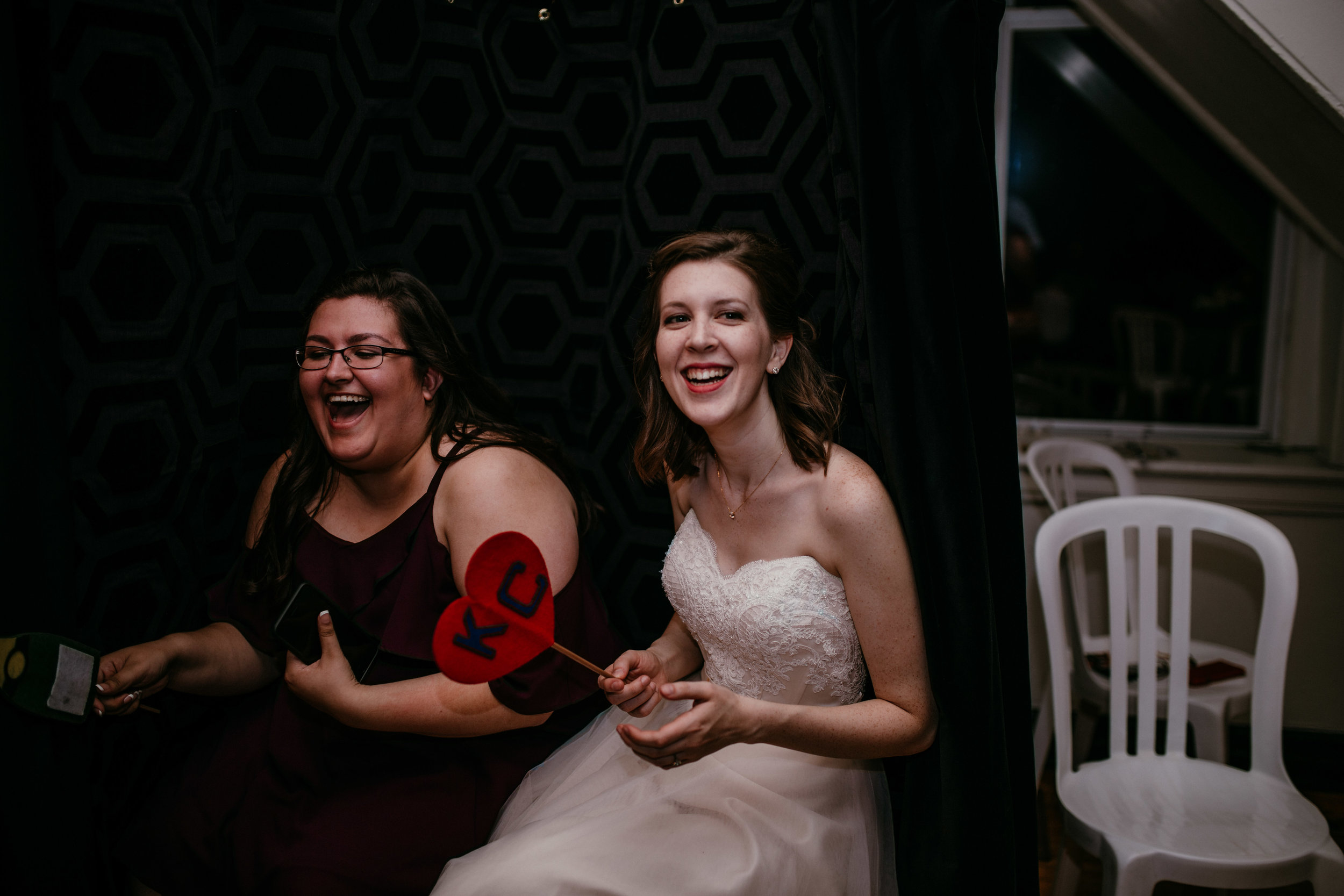 Photo Booth at the Reception of Shelbie & Jospeh's Summer Love Story : Kansas City Wedding | Hanna Hill Photography