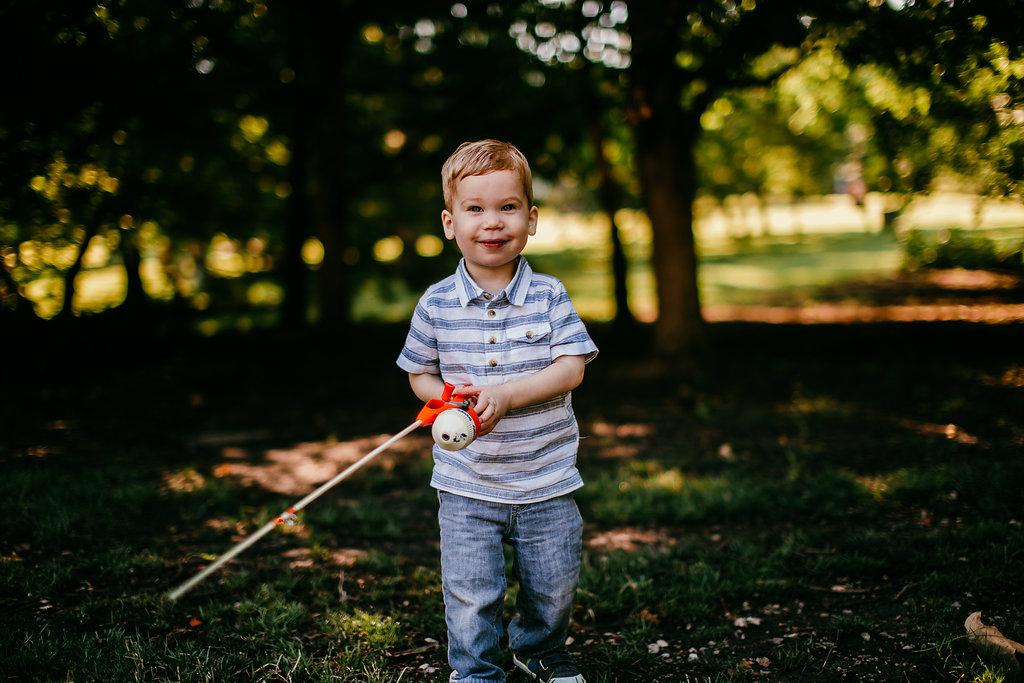 Little boy portrait at Loose Park, Kansas City | The Hann Family | Hanna Hill Photography | Durham, NC Family photographer