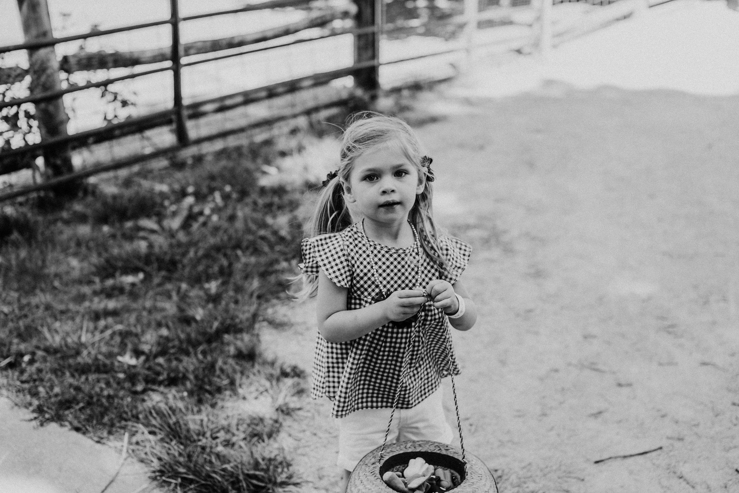 Black and farm birthday party Kate's 3rd Birthday | Hanna Hill Photography | Durham, NC Family Photographer