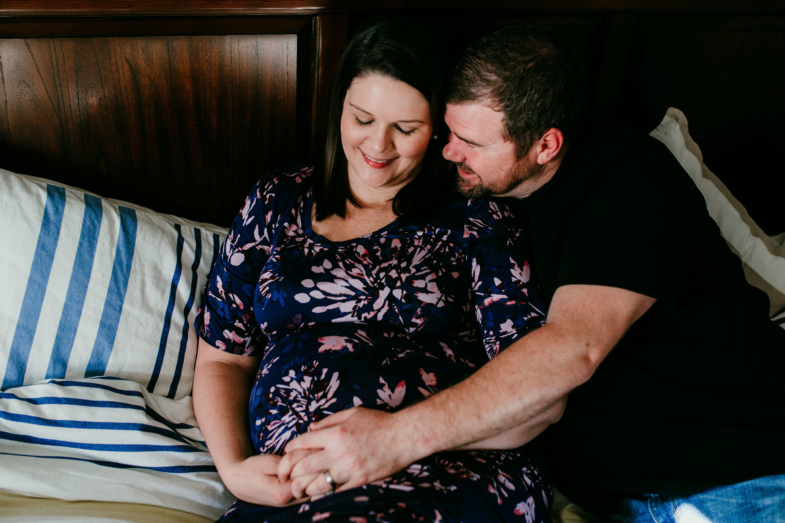 Jessica & Zane In Home Maternity Photography | Hanna Hill Photography | Raleigh Birth and Family Photographer
