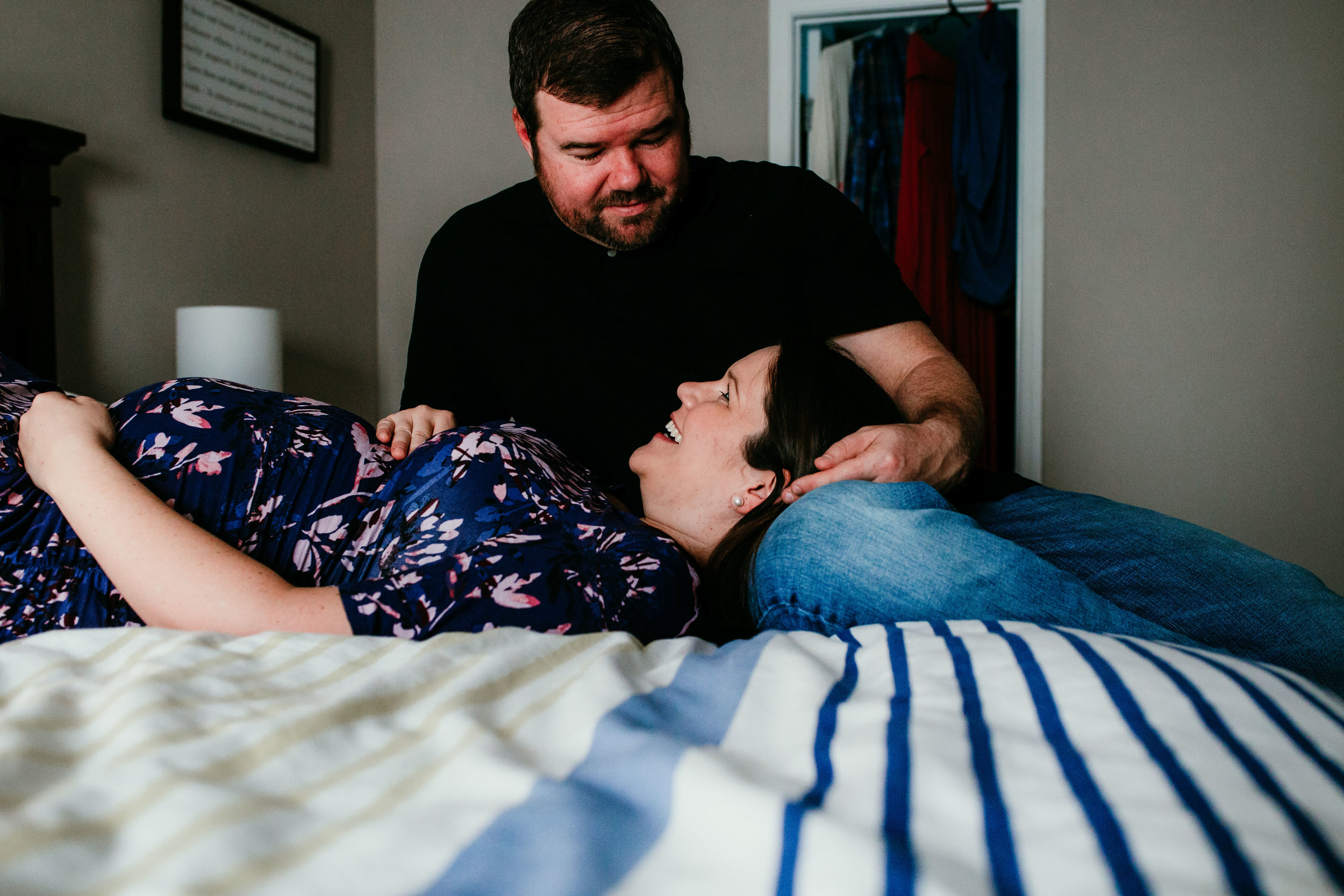 Jessica & Zane In Home Maternity Photography   Hanna Hill Photography   Raleigh Birth and Family Photographer