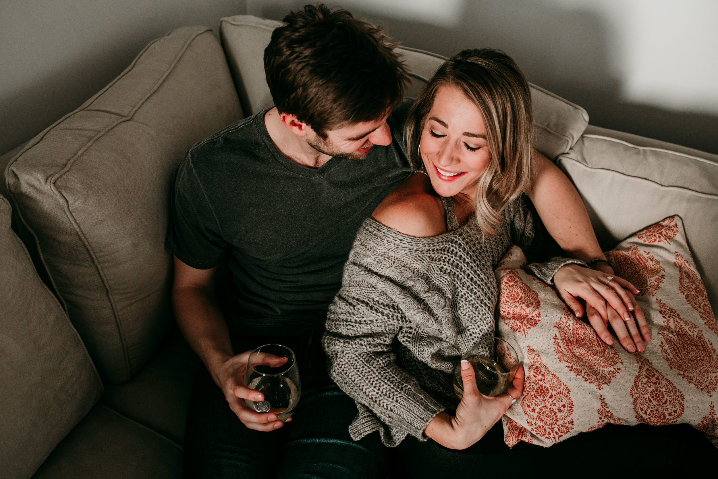 Matt and LA In Home Engagement | Hanna Hill Photography | Raleigh birth and family photography