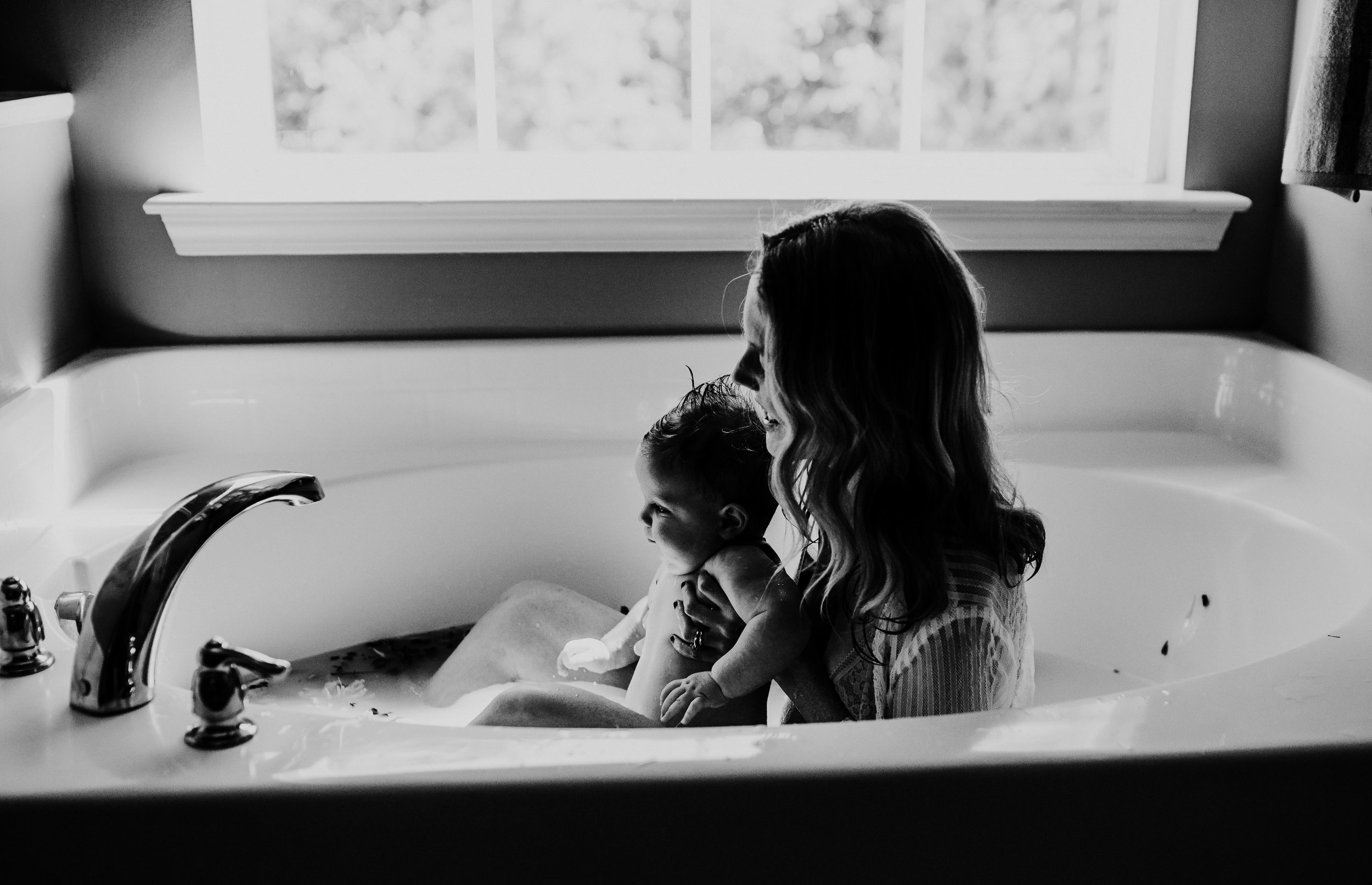 Heather and Tommy Milk Bath Breastfeeding Session | Hanna Hill Photography | Raleigh Durham Birth and Family Photographer