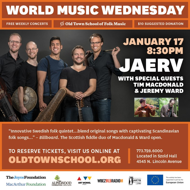 JAERV at Old Town School of Folk Music Jan '18 — Jaerv