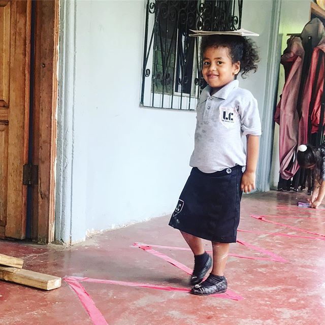 Practicing our balance and coordination today!  #learningcenter #activelearning #preschool #education #eternalfamilyproject #honduras #lifechange