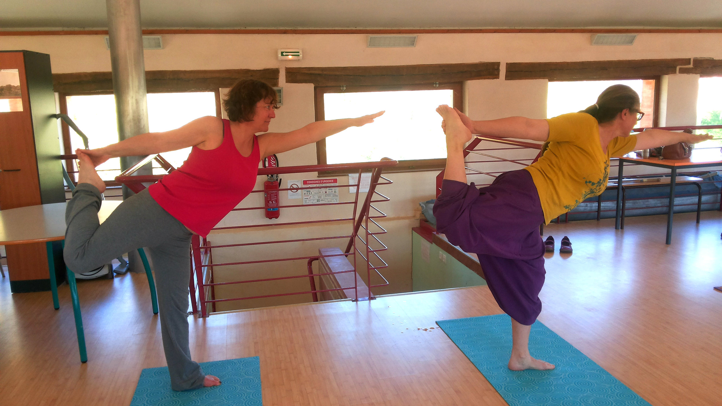 Posture de Yoga pour les débutants.