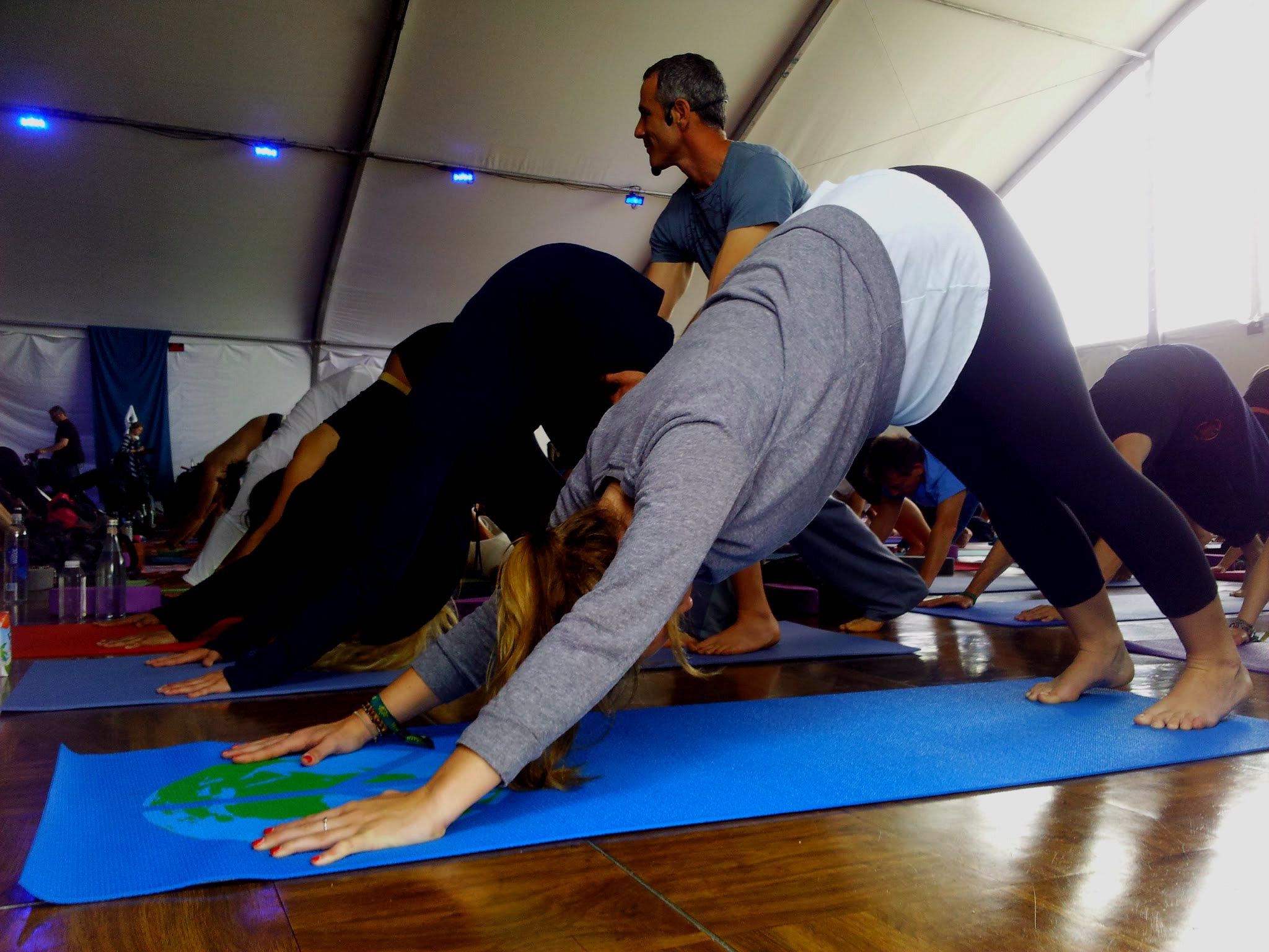 Au festival Tadasana avec les cours de yoga de  Tommy Rosen  aux USA.
