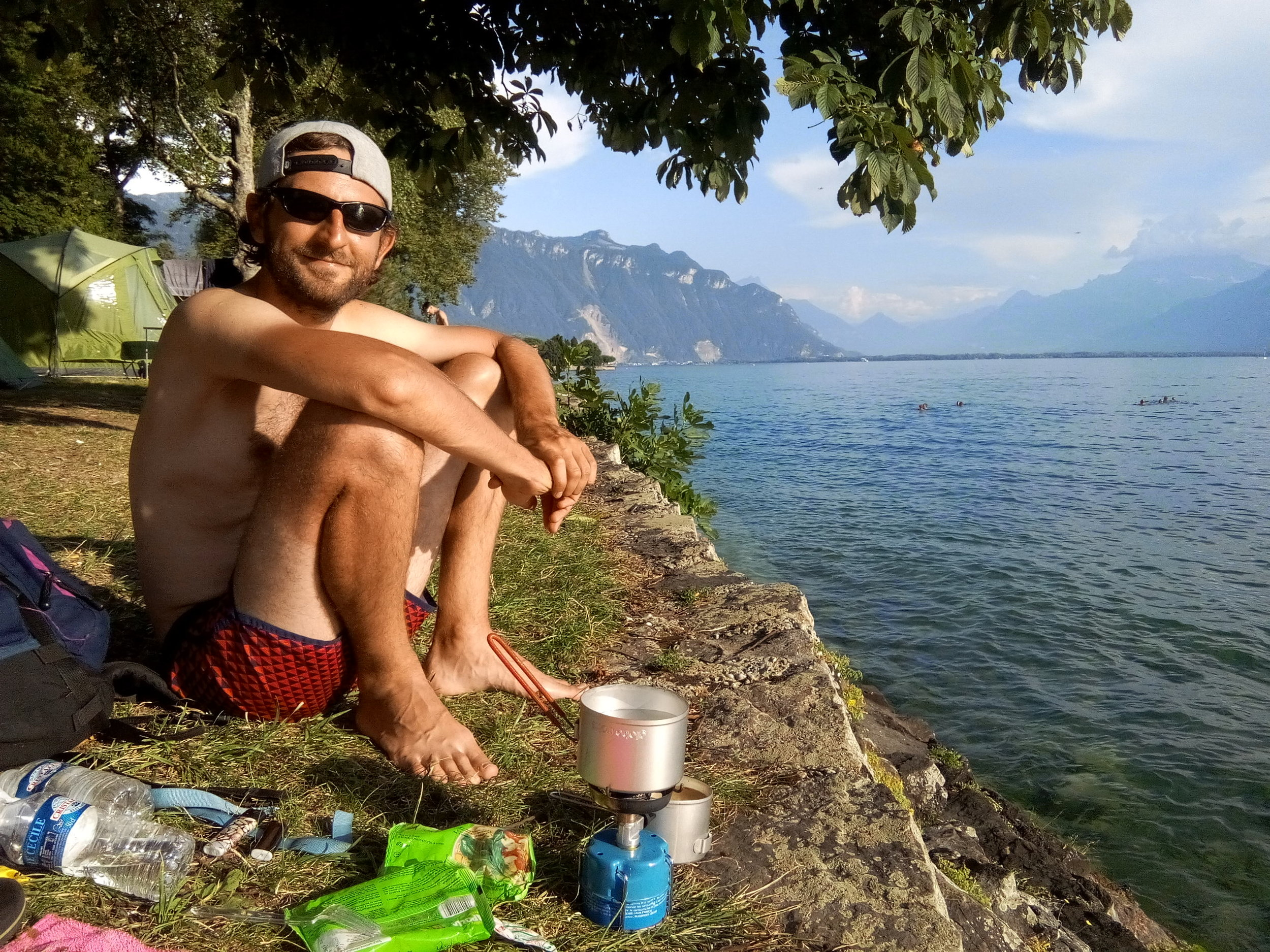 """Le camping """"La Maladière"""" la Tour de Peilz."""