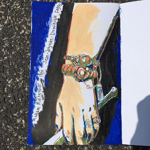 #handstudydrawing #jeanaugustedominiqueingres