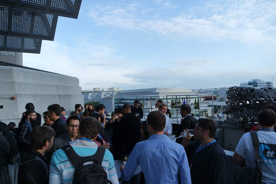 Networking on the W Hotel terrace.