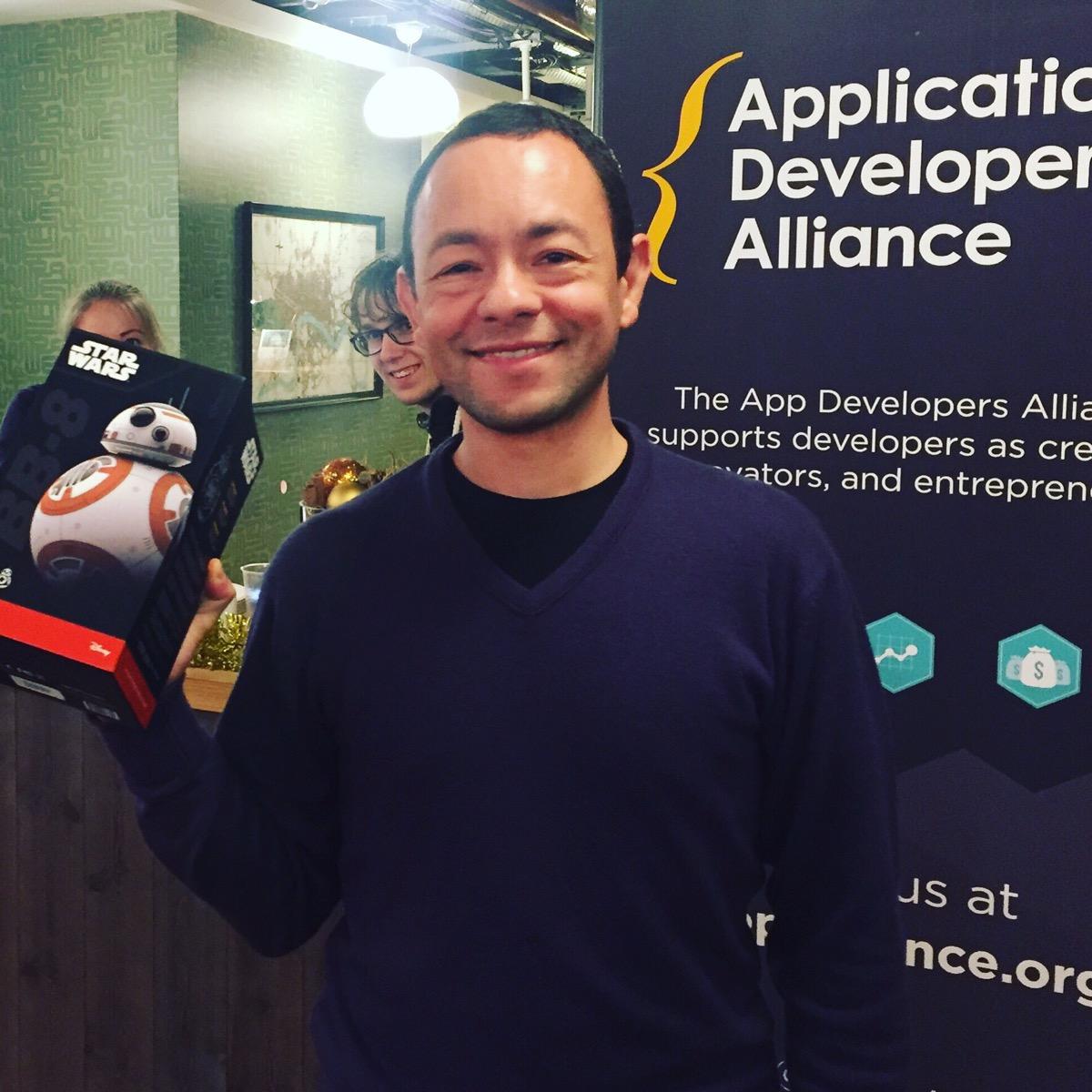 The lucky winner: Rafael Cepeda Lopez,Head of IoT for InterDigital Europe