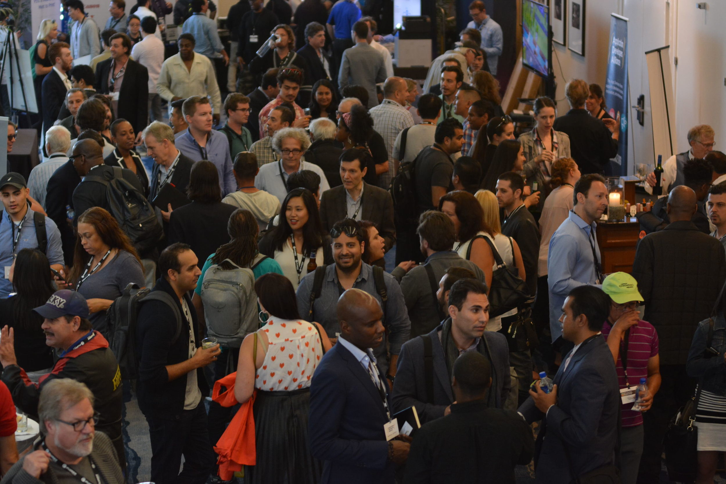 Our attendees, sponsors, and speakers all mingled together in our Happy Hour at the end