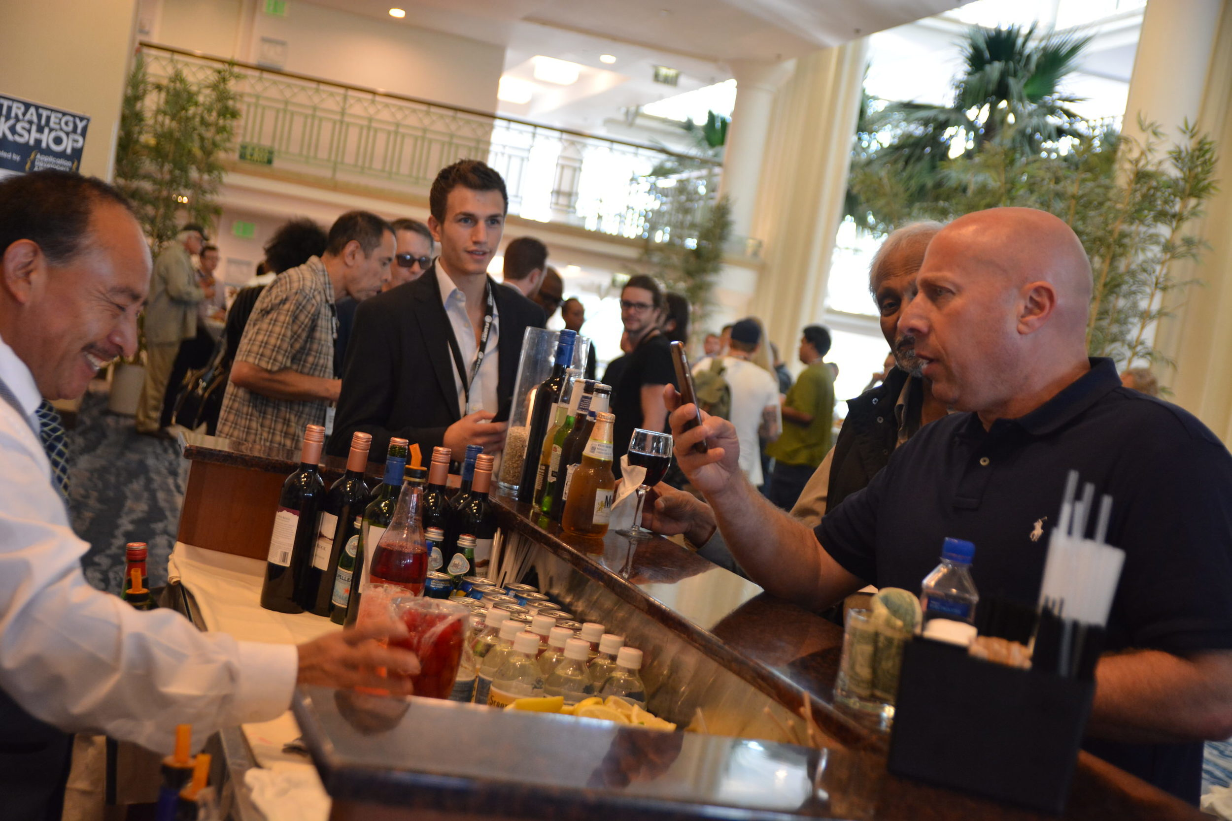 The open-bar was definitely a popular component of our happy hour!