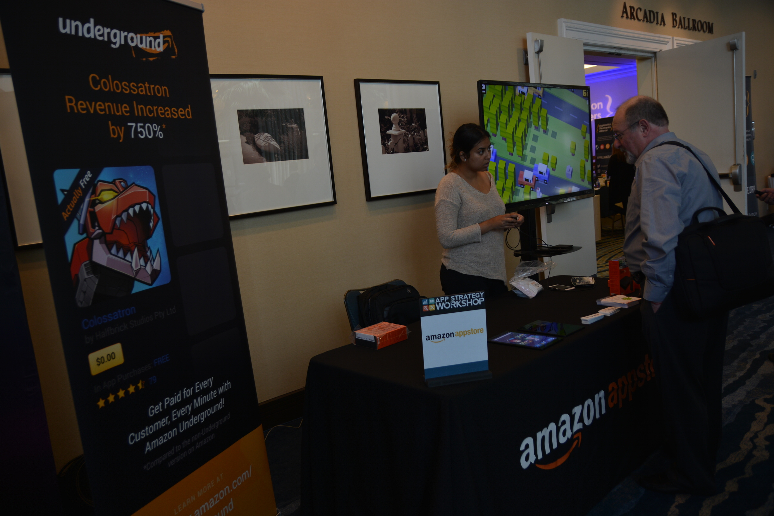 Amazon Appstore hosted a friendly Crossy Road video game competition. The winner took home an Amazon Fire TV!