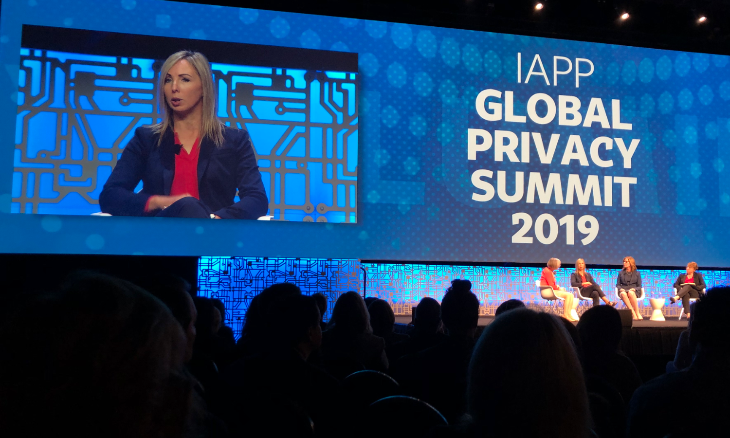 Ireland Data Protection Commissioner Helen Dixon speaking at the IAPP Global Privacy Summit 2019.