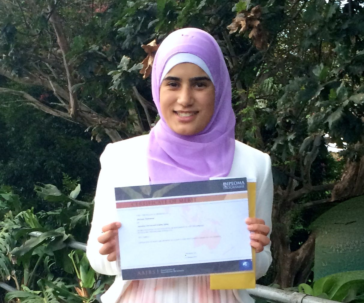 """Mariam received a well-deserved A for her extended essay on Jean Rhys' """"Wide Sargasso Sea""""."""