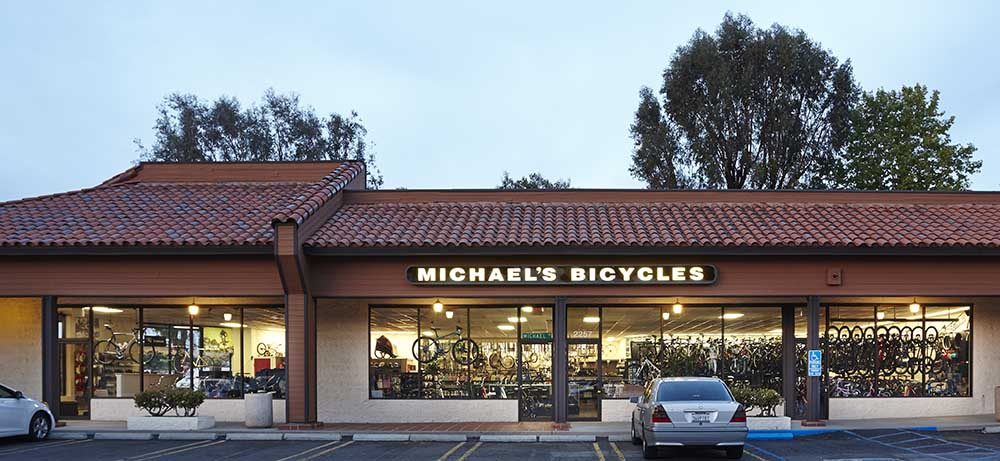 Michaels Bicycles Outside