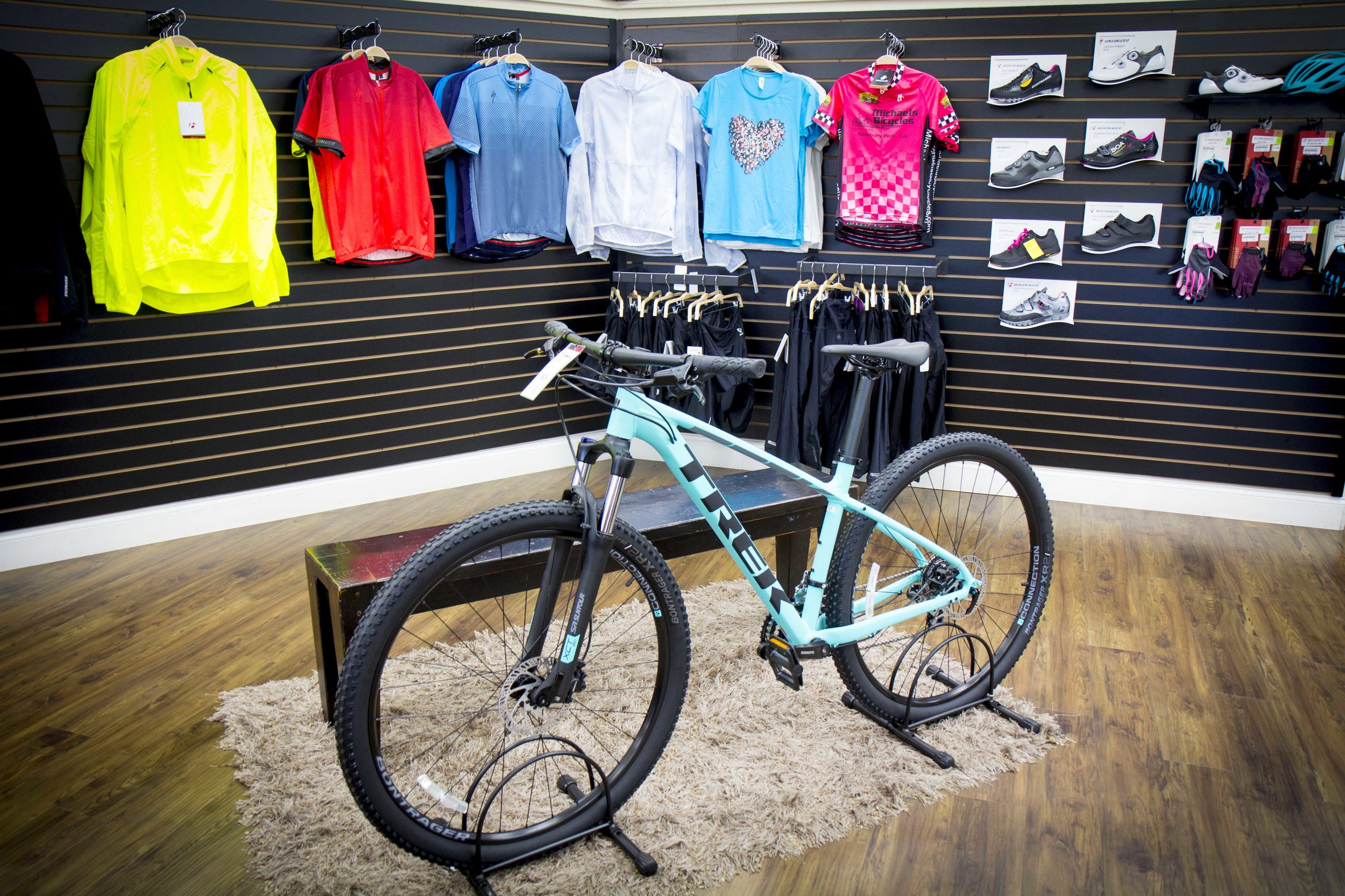 Accessories and Clothing - - We have a wide variety of Clothing, Helmets, Cycling Shoes, Gloves, Socks and everything else you need for your next ride!