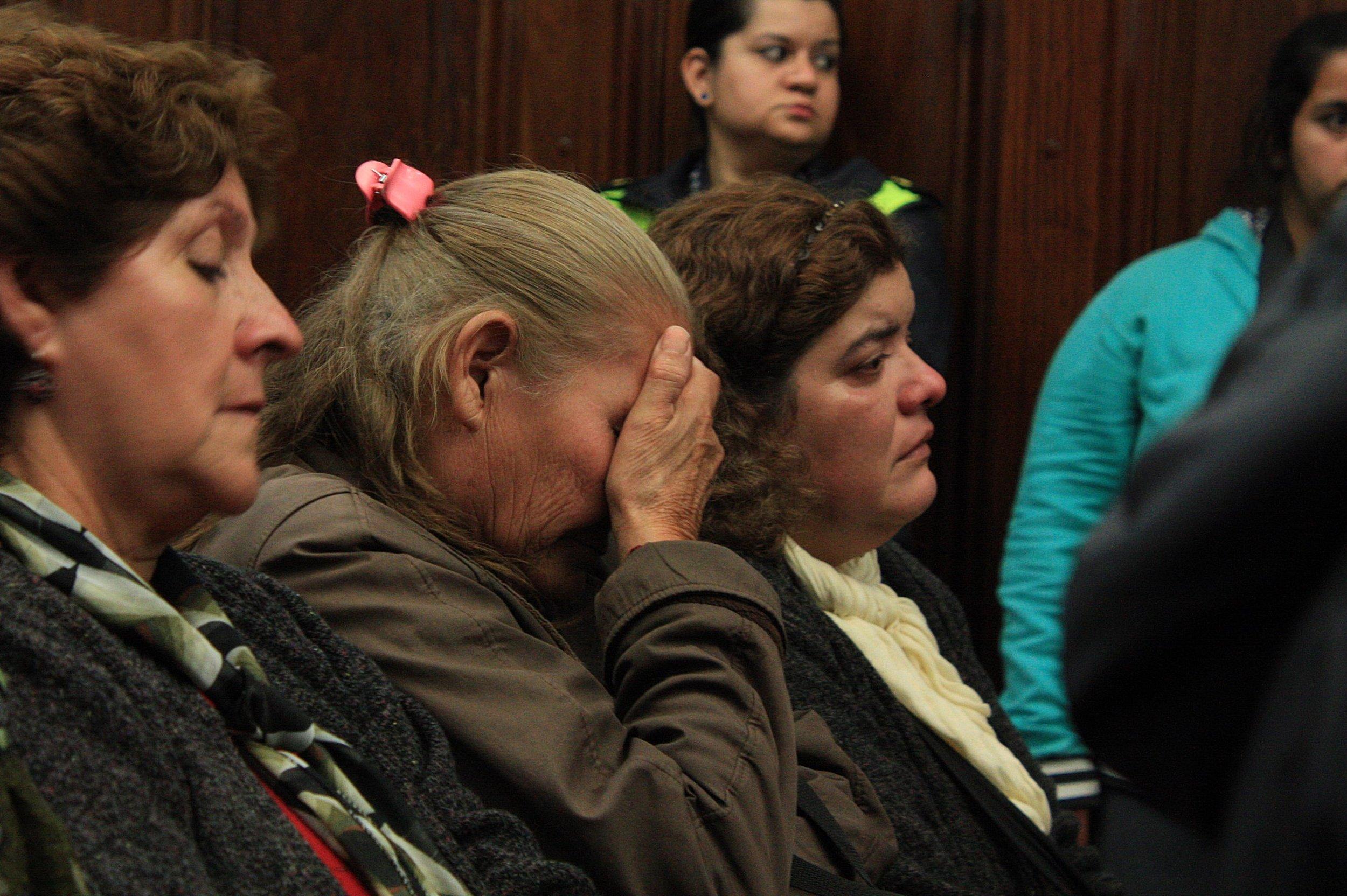 """Isabel Lucena, cuñada de Ismael, presenció las audiencias luego de declarar. """"Ismael era la alegría de mi casa"""", dijo ante el tribunal."""