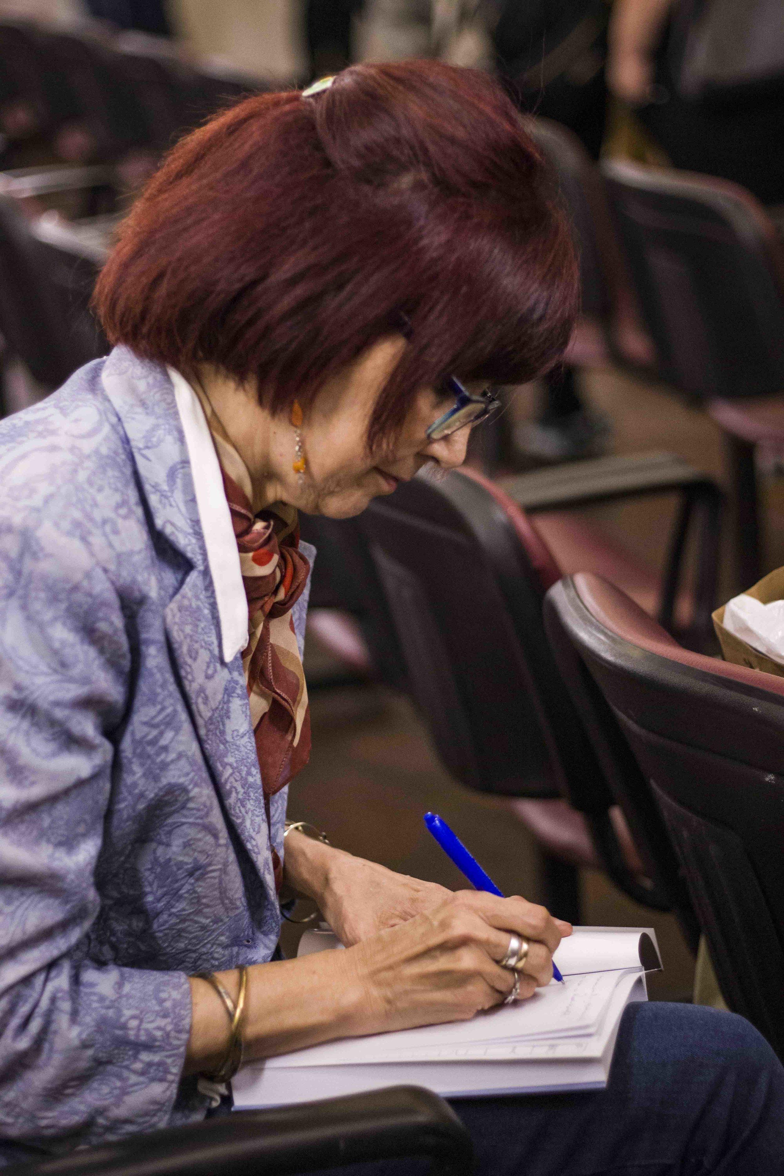Tina Gardella, compiladora del libro   Fotografía de Ignacio López Isasmendi