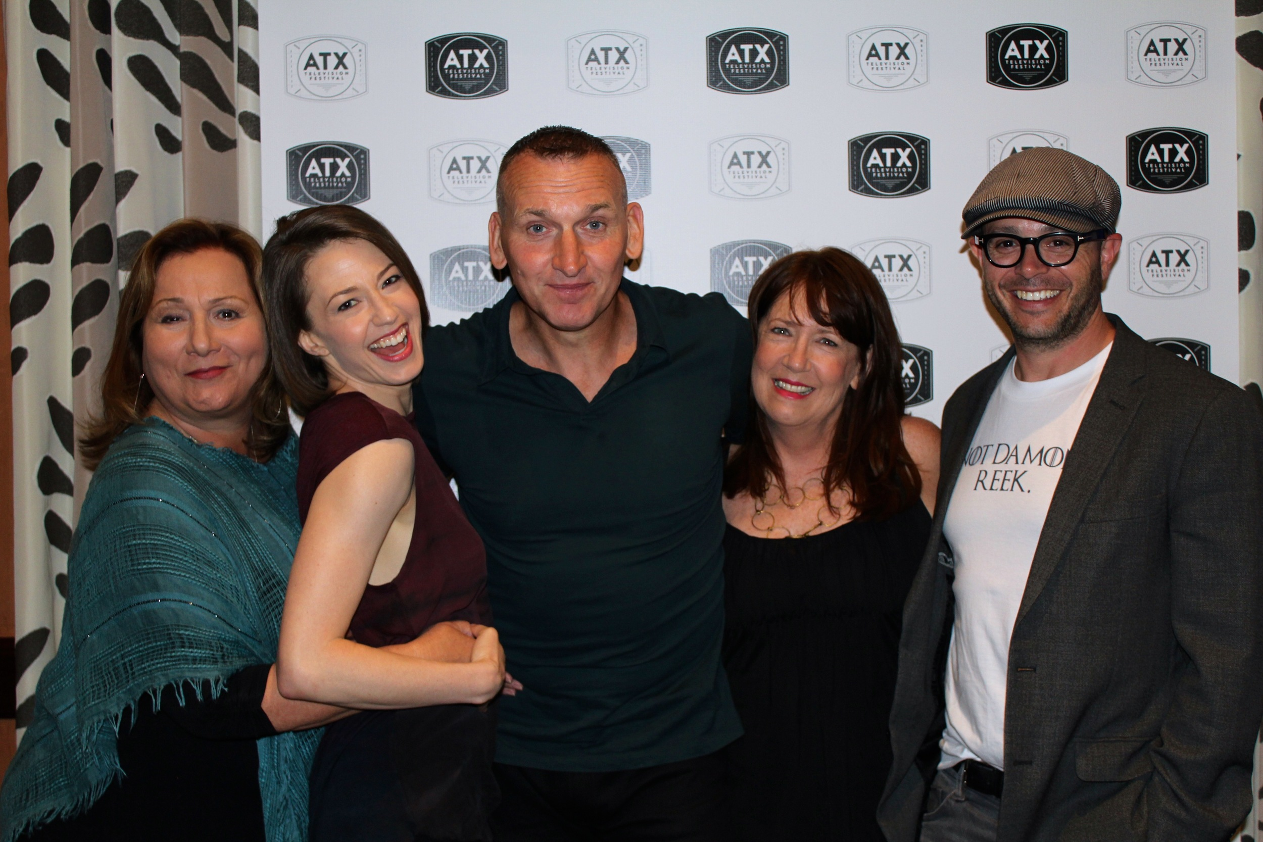 (L-R): director and executive producer Mimi Leder, Carrie Coon, Christopher Eccleston, Ann Dowd and series creator Damon Lindelof