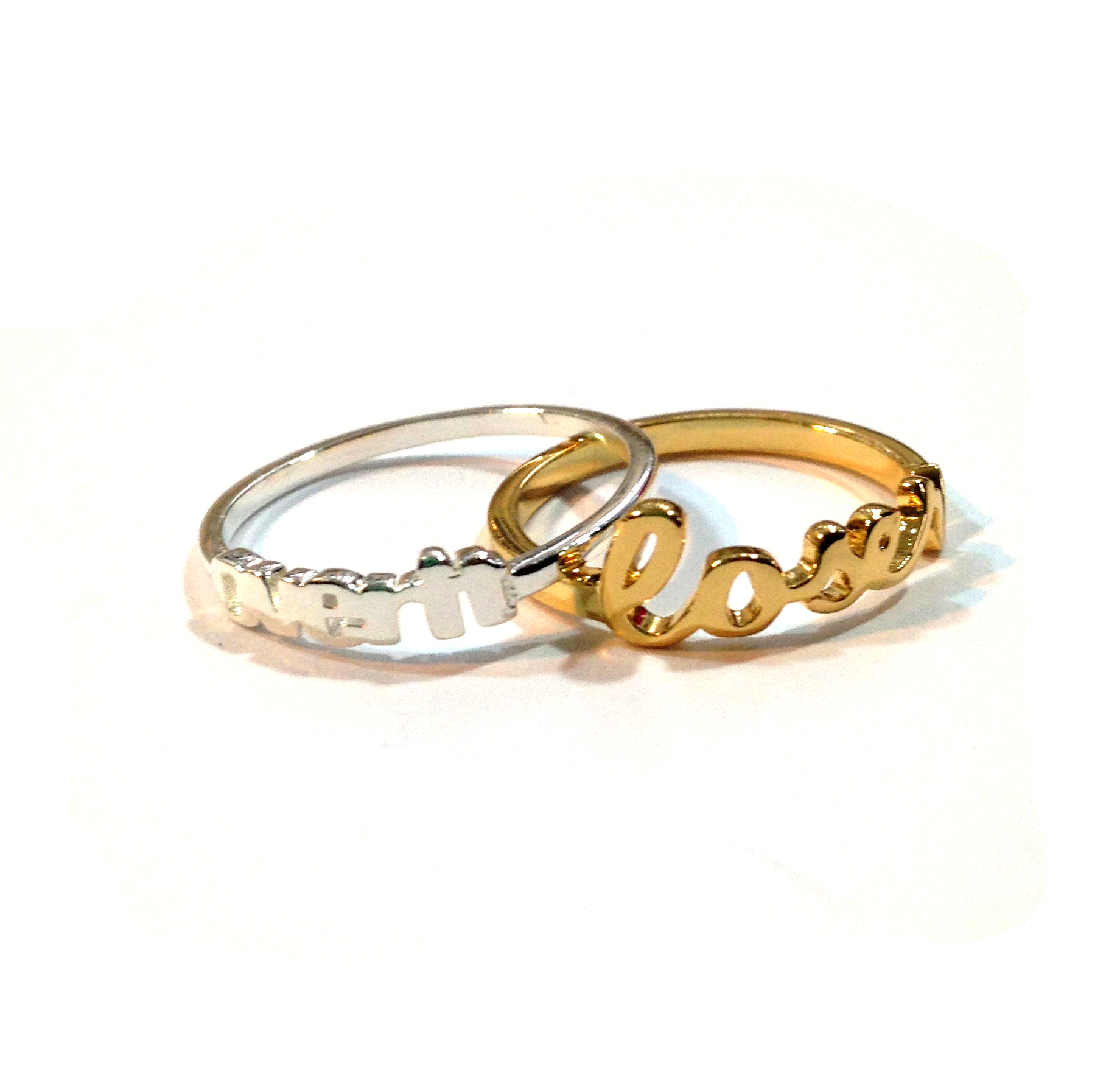 Over It Silver Ring. RETAIL $44.  Loser Gold Plated Ring RETAIL $44.  BUY HERE .